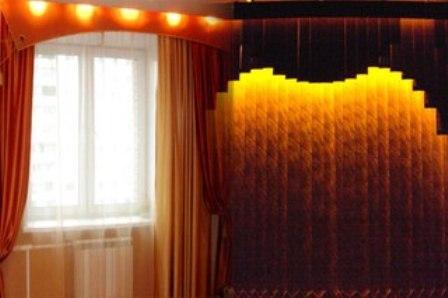 карниз для штор с подсветкой,