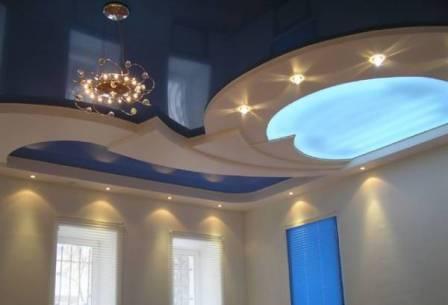 многоуровневые потолки, сделанные своими руками, фото
