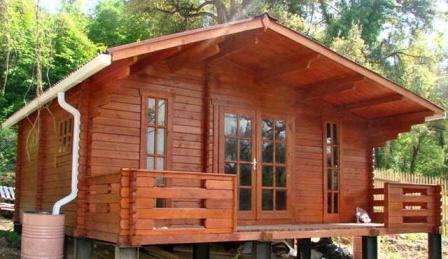 Садовые домики из шпунтованной доски