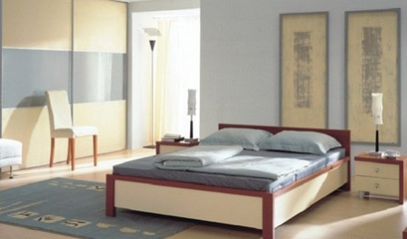 Спальня в стиле минимализм1