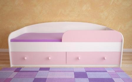 Детская диван кровать с бортиками