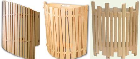 Светильники для парилки деревянные