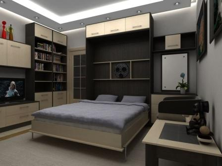 откидная кровать с диваном кровать трансформер фото
