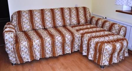 покрывало на угловой диван дизайн