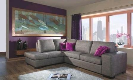 Гостиная с угловым диваном интерьер