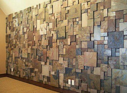 Варианты отделки стен