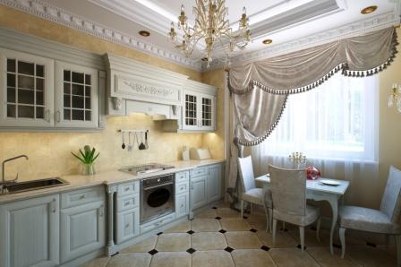 оформить кухню в классическом стиле