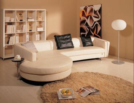 Большой угловой диван для гостиной фото
