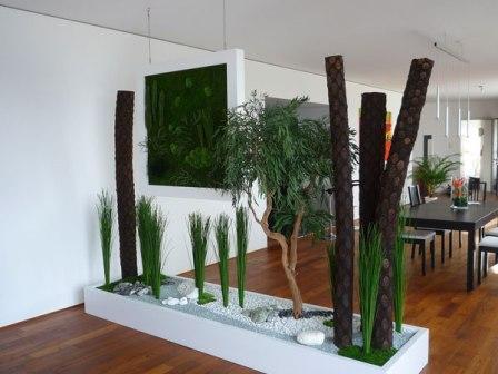 Перегородка из растений