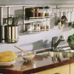 Рейлинги  и полки для рейлинга на кухню: фото, установка, виды