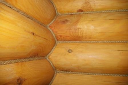 Утепление деревянного дома веревка