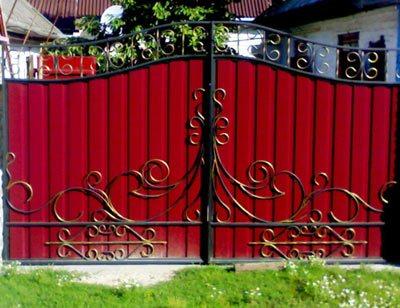 Художественная ковка фото ворота