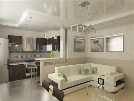 кухня-столовая-гостиная в частном доме фото