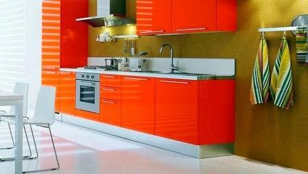 кухни оранжевого цвета фото