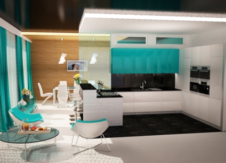 кухня большая дизайн