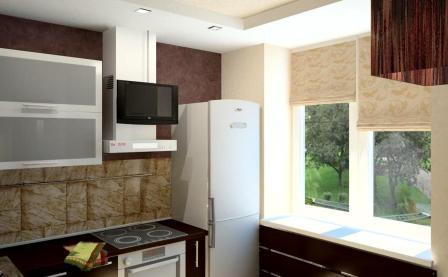 кухня в брежневке дизайн фото