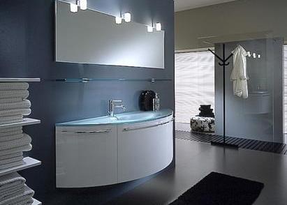 ниша для тумбы в ванной комнате