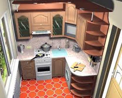 оформление кухни в долевке
