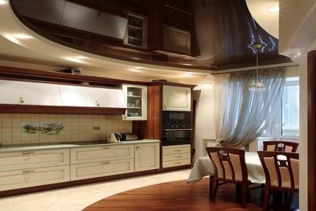потолок натяжной красивый