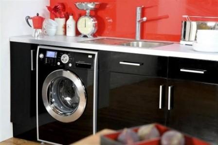 встроенная стиральная машинка для кухни