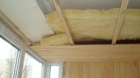 Утепления потолка минеральной ватой