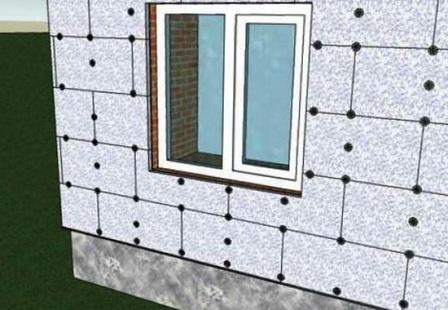 Теплоизоляция газобетонного дома пенопластом