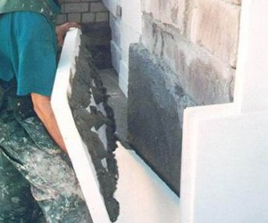 Утепление стен из шлакоблока пенопластом