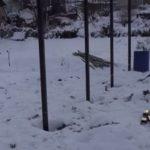Установка заборных столбов