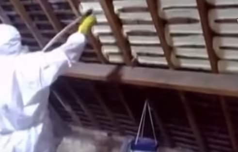 Утепление крыши изнутри  пеной