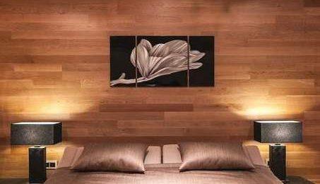 Отделка стен ламинатом фото