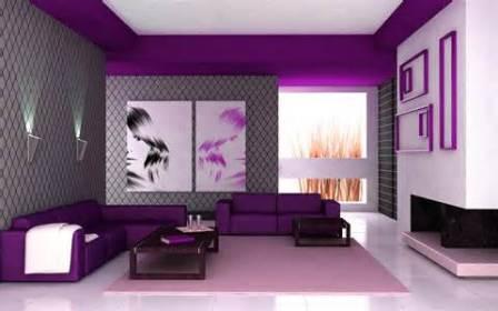 Отделка стен обоями двух цветов