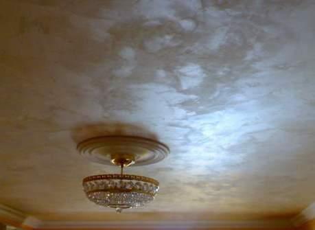 потолок штукатурка деревянный потолок