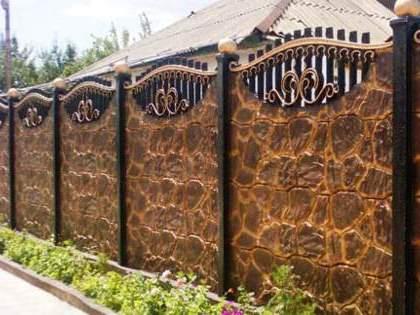 Заборы для частного дома фото
