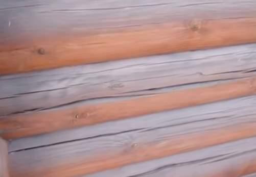 Трещины и щели в бревнах сруба