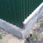 Забор из профилированного листа своими руками
