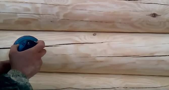 Шлифовка и полировка сруба