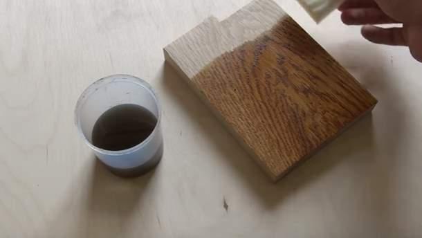 Тонировка древесины