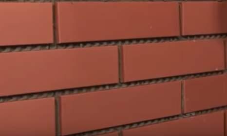 Укладывание фасада клинкерной плиткой