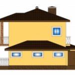 проект двухэтажных домов с гаражом