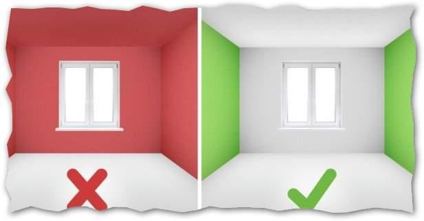 визуально увеличить маленькую комнату