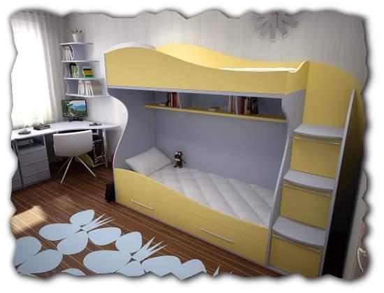 двухъярусных детских кроватей