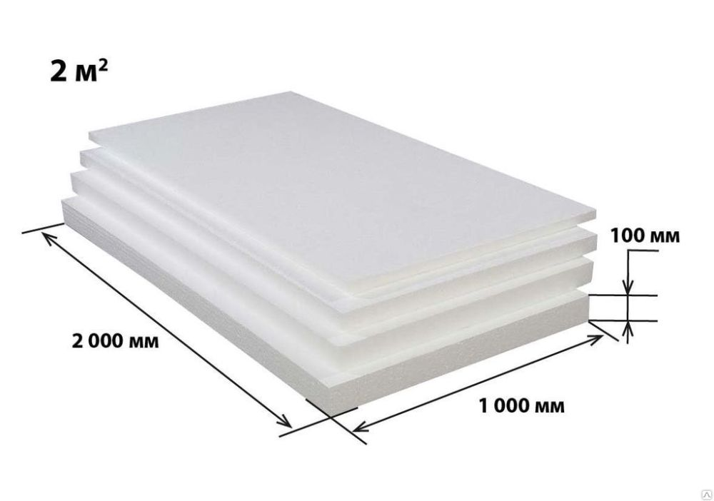 Размеры пластины пенополистирола