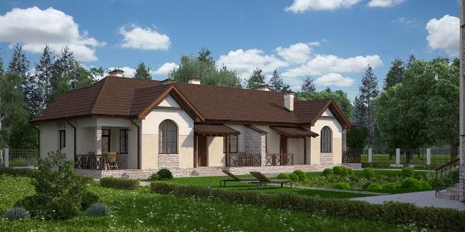 Одноэтажный дом на 2 хозяина с разными входами