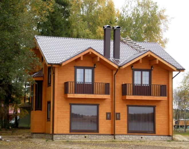 Каркасный дом на 2 хозяина с разными входами