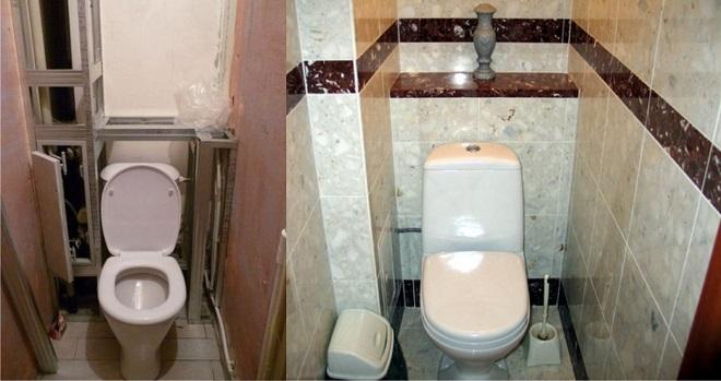 Как закрыть трубы в туалете. Способы маскировки коммуникаций