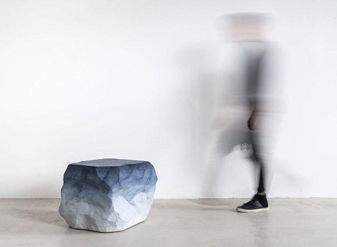 Песок и цемент в мебели от Fernando Mastrangelo