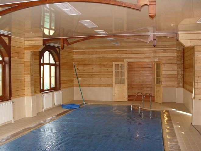 Баня с бассейном. Планировка