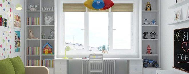 Рабочая зона для школьника у окна