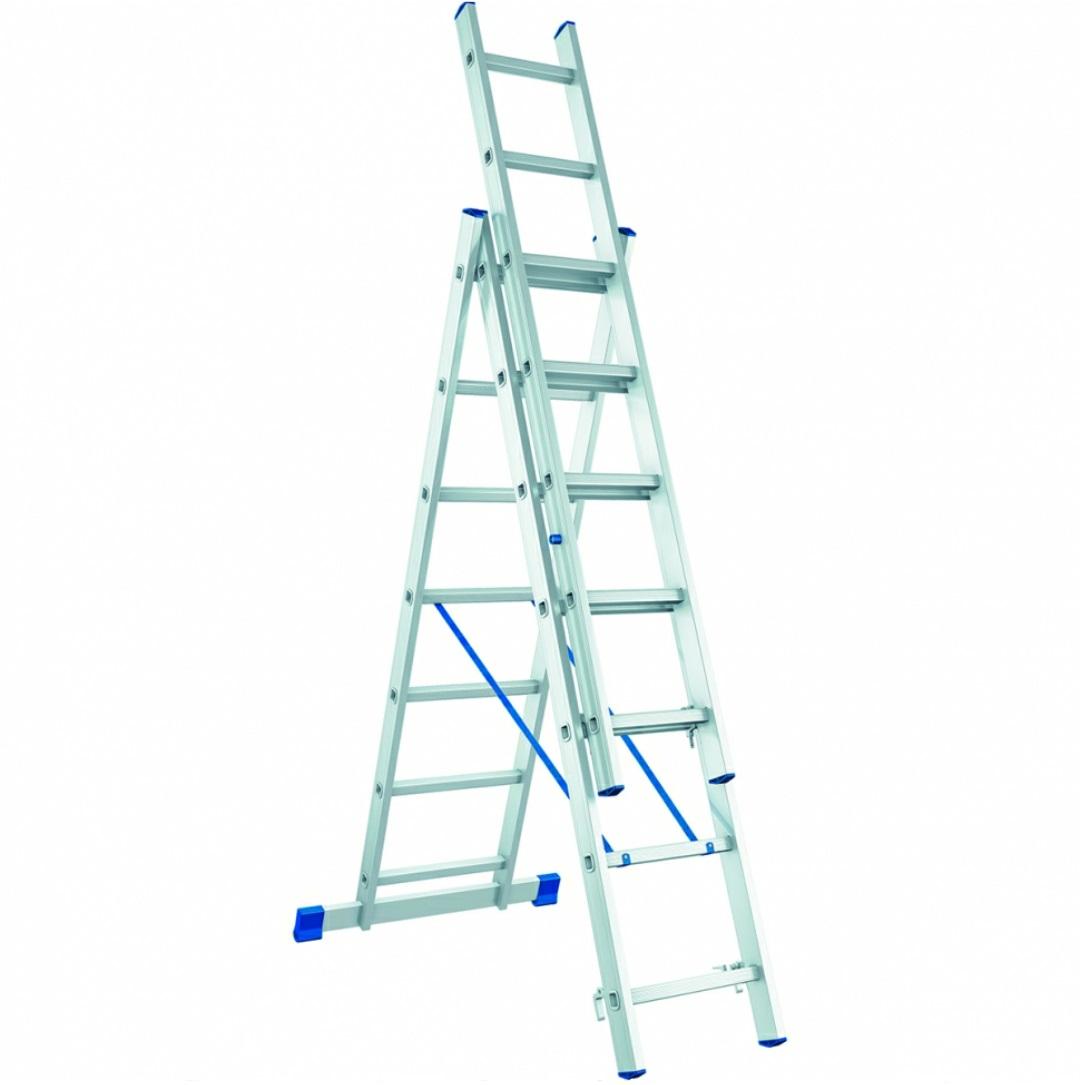Раздвижная алюминиевая лестница