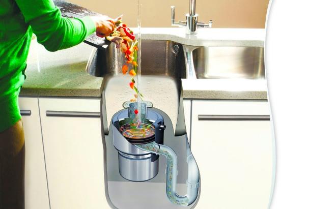 Сифон с измельчителем пищевых отходов